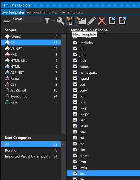 Reharper Live Template Example